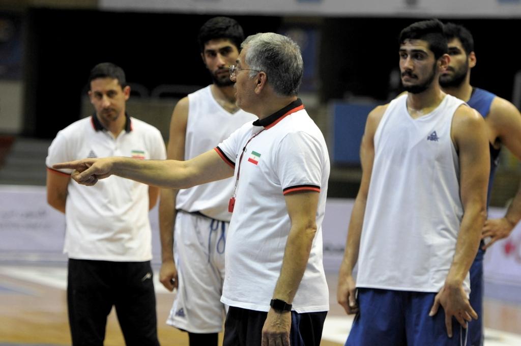 تمرینات تیم ملی بسکتبال