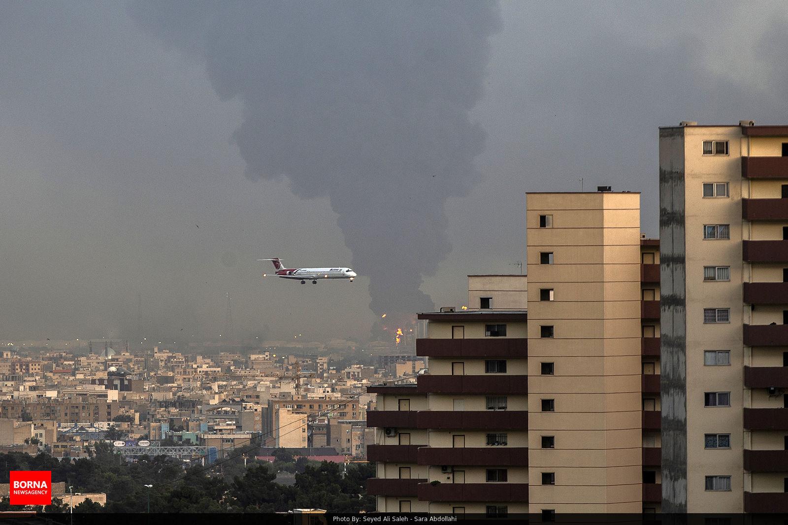 آتش+سوزی+در+انبار+نفت+پالایشگاه+تهران