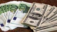نوسانات دلار و یورو در 9 ماه اول سال 98