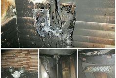 آتش سوزی در طبقه سوم آپارتمانی در رشت