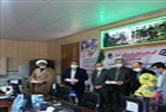 اهدای 22 دستگاه تبلت به دانش آموزان تحت حمایت زنجانی