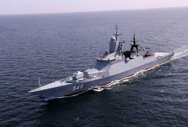 استقبال از ناوگروه روسیه در رزمایش مرکب دریایی ایران-روسیه