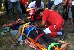مصدومیت یک نفر بر اثر سقوط از کوه