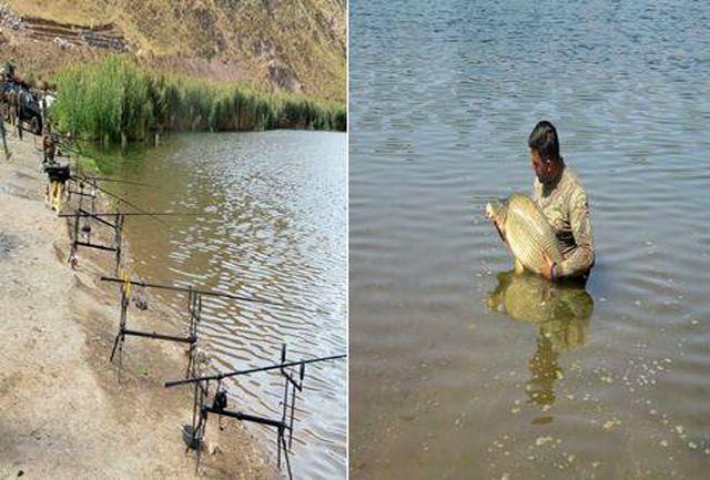 اجرای برنامه های صید ورزشی ماهی کپور در دریاچه اوان
