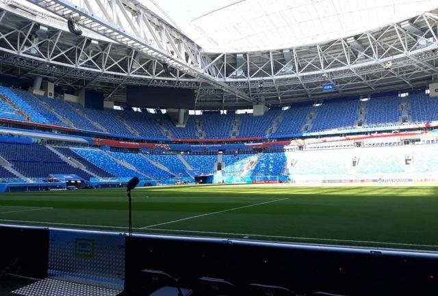 آمادگی ورزشگاه سن پترزبورگ برای دیدار ایران و مراکش