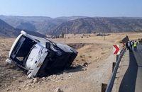 واژگونی اتوبوس مسافربری اصفهان-رامسر/2 مسافر و راننده در دم جان باختند