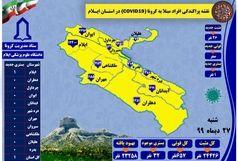 آخرین و جدیدترین آمار کرونایی استان ایلام تا ۲۷ دی ۹۹