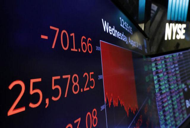افت ۳۰۰ واحدی شاخصهای سهام آمریکا