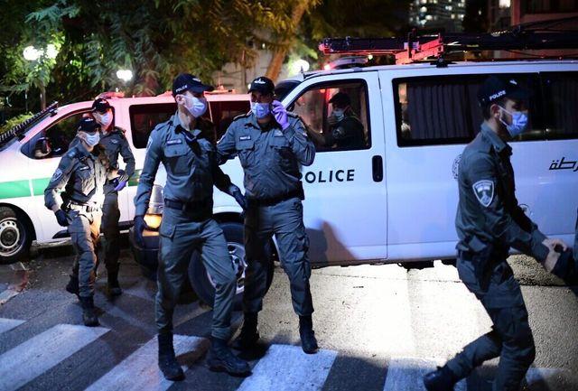 حمله به معترضان علیه نتانیاهو در فلسطین اشغالی