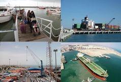 47میلیون تن کالا در بنادر هرمزگان جابجا شد/ ترابری 9 میلیون نفر سفر دریایی