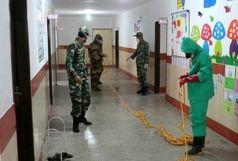 یگانهای زرهی ارتش مدارس خاش را ضدعفونی کردند
