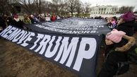 زنان مخالف ترامپ در آمریکا تظاهرات کردند