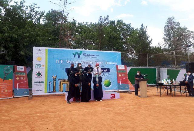 مراسم اختتامیه تور جهانی تنیس زیر 18 سال با حضور معاون وزیر ورزش و جوانان برگزار شد