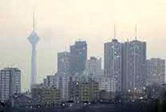 کیفیت هوای تهران در مرز آلودگی