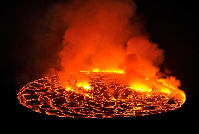 فوران آتشفشان ساریچف را از نمای بالا ببینید