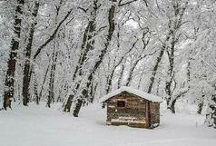 بارش برف در مناطق کوهستانی گیلان