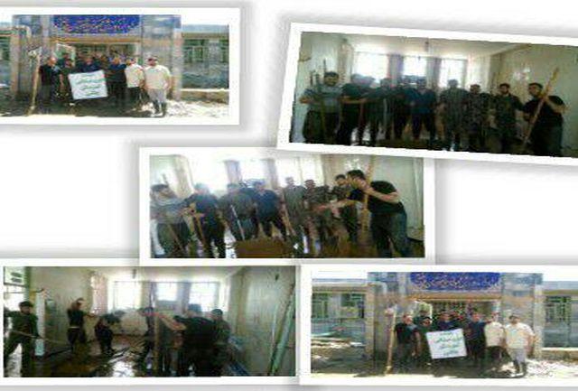 اردوی جهادی جامعه ورزشی چگنی در کمک به سیل زدگان پلدختر