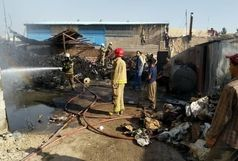 حریق در کارخانه جاده خاوران+ عکس
