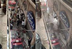 آتش سوزی در بازار زرگرهای تهران+جزئیات