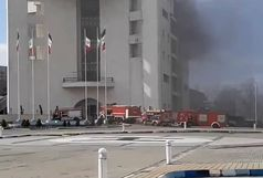 آتش سوزی در ساختمان مرکزی شهرداری رشت