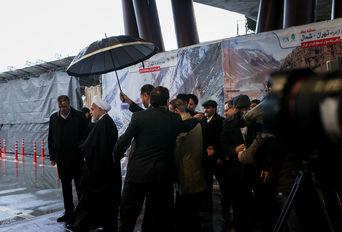 افتتاح منطقه یک آزاد راه تهران - شمال با حضور دکتر روحانی