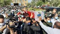 """آیین وداع با شهید""""ضرغام پرست"""" در بندر ماهشهر برگزار شد+ببینید"""