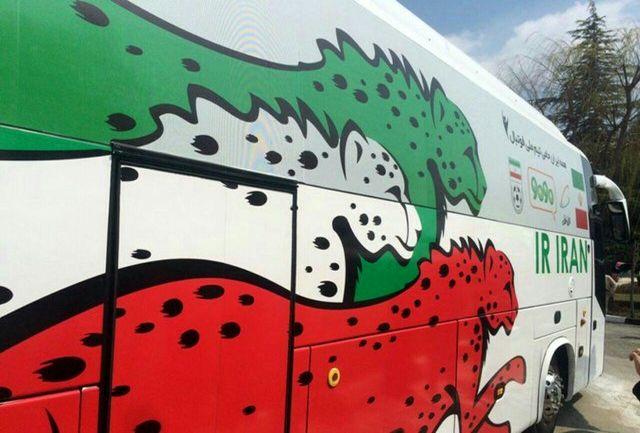 تلویزیون اتوبوسی جام جهانی در  ناهار خوران گرگان