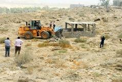 حدود 7 هکتار از اراضی ملی قشم رفع تصرف شد