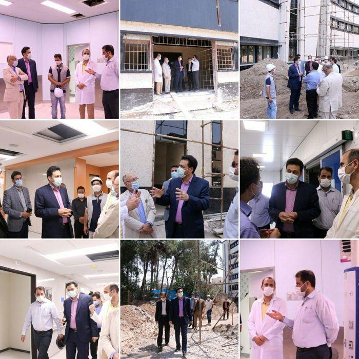 بازدید فرماندار ری از بخش جراحی بیمارستان جدید 320 تختخوابی فیروزآبادی
