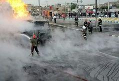 آتش تانکر سوخت مهار شده و خطری شهروندان را تهدید نمیکند