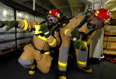 نگهبان 35 در آتش سوخت