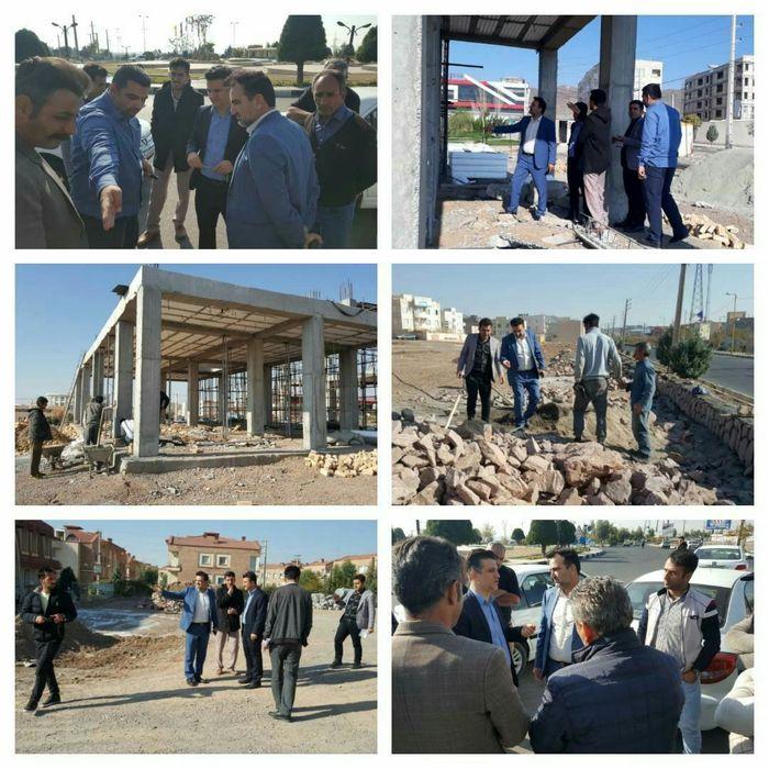 بازدید سرپرست شهرداری پرند و رئیس کمیسیون اقتصاد و سرمایه گذاری  شورای شهر از پروژه های عمرانی