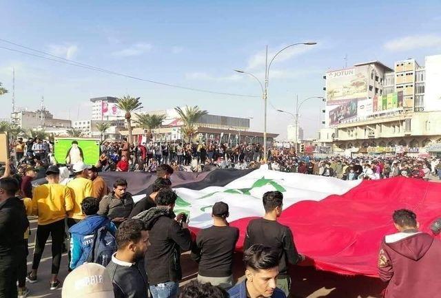 تجمع هواداران مقتدا صدر در بغداد