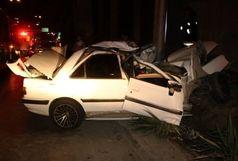 یک کشته و 4 مصدوم براثر واژگونی خودروی سواری تیبا