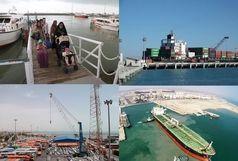 خدمات رسانی به 10 میلیون نفر سفر در بنادر هرمزگان/ 54 میلیون تن کالا تخلیه و بارگیری شد/ صادرات 21 میلیون تن کالای غیرنفتی