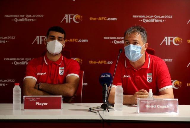 از یک اتفاق رضایت ندارم/ تمرکز ما اکنون روی بازی با بحرین است