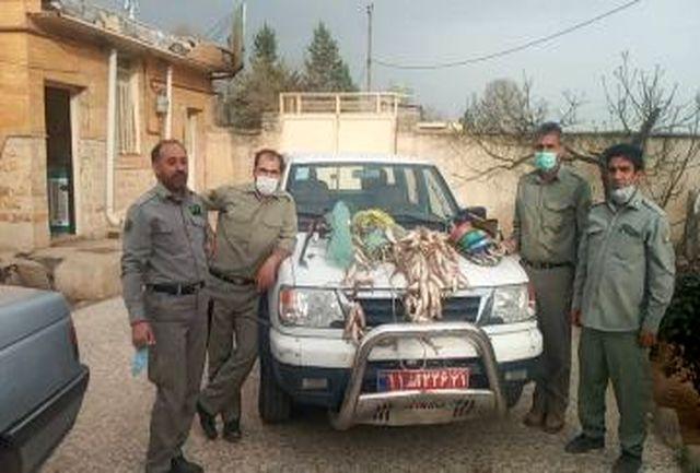 دستگیری صیادان متخلف در چگنی