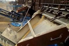 تخلیه اولین محموله ریلی جهاد کشاورزی استان قم