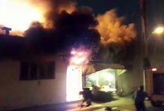 عملیات ۳۸ آتشنشان در آتش سوزی رشت