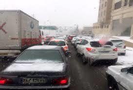 ترافیک در آزادراه کرج-تهران نیمه سنگین است