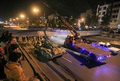 جزئیات سقوط پل هوایی کمربندی شرق اصفهان