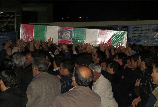 مراسم وداع با پیکر شهید محسن خزایی در زاهدان