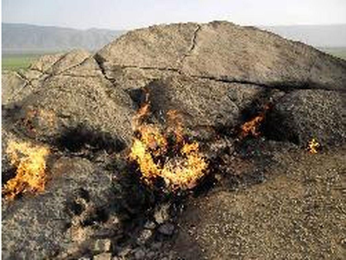 مهار آتش سوزی ارتفاعات «کلم» بدره