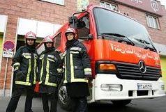 آتش نشانان زن در ایستگاه آتش نشانی کرج