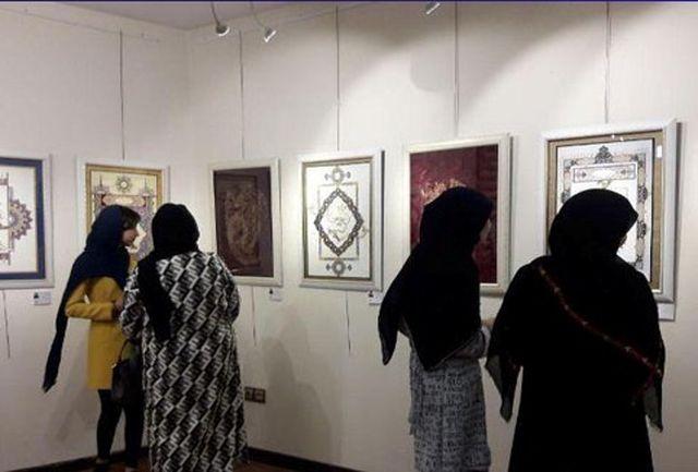 نمایشگاه نگارگری آثار هنرجویان هنرستان حلما شهرستان قدس برپا شد