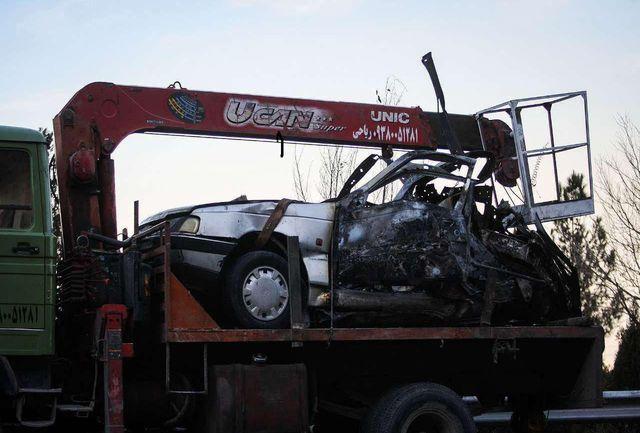 انفجار خودرو جان 2 نفر را گرفت