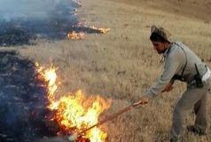 آتش سوزی  6 هکتار از مراتع تاکستان مهار شد