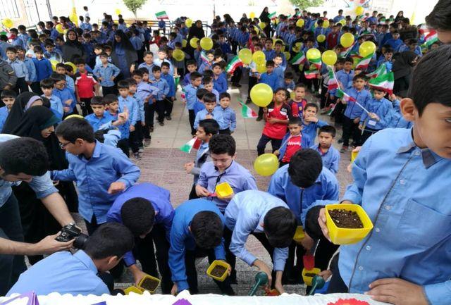 اجرای طرح تلاش سبز در مدرسه شهید برخوردار زاده