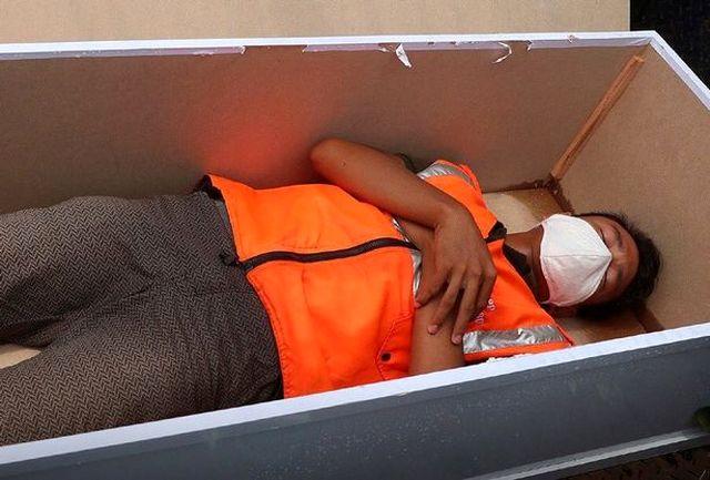 افرادی ک ماسک نمیزنند باید در تابوت بخوابند!