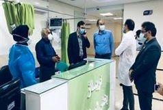 اشغال۹۰ درصد تخت های بخش های کووید در بیمارستان شهدای بندرلنگه